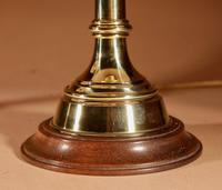 Pair of Very Decorative Solid Brass Candlesticks now as Table Lamps (3 of 3)