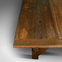 Large 12' Antique Kitchen Table, English, Pine, Industrial, Victorian, 1900 (11 of 12)