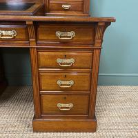 High Quality Maple & Co Antique Victorian Pedestal Desk (11 of 11)