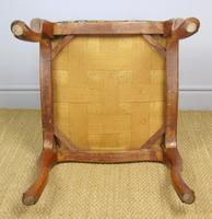 Good Early Victorian Mahogany Cabriole Stool (6 of 7)