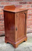 Edwardian Mahogany Wood Inlaid Bedside Cabinet (3 of 7)