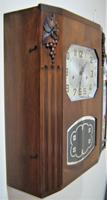 Lovely French Art Deco Westminster Chiming Wall Clock by Stem (4 of 6)