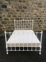 Antique Victorian Brass & Iron Double Bed