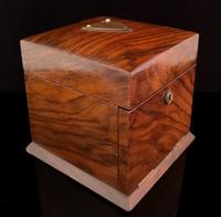 Antique Victorian walnut jewellery box, fitted (3 of 9)