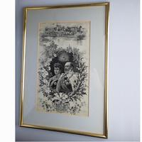 Large Textile Embroidery Commemorative Royal Silk Picture Stevengraph Type 19th Century (4 of 4)