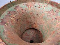 Pair Antique Cast Iron Medici Urns (6 of 7)