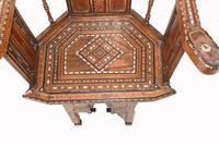 Arabic Chair Antique Damascan Furniture Inlay 1920 (2 of 10)