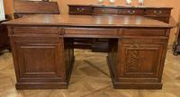 Important French Pedestal Desk from 19th Century in Oak (11 of 13)
