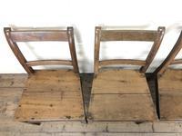 Set of Four Antique Farmhouse Kitchen Chairs (3 of 9)