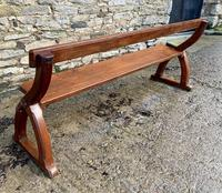 Antique Pitch Pine Gothic Style Church Pew Bench (12 of 13)
