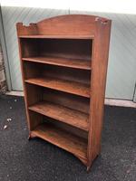 Antique Oak Open Bookcase