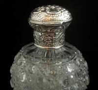 Antique Victorian Scent Bottle, Cut Glass, Sterling Silver (8 of 12)
