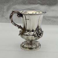 Antique William IV Sterling Silver Christening Mug London 1838 John Tapley (8 of 9)