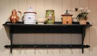 French Painted Wall Shelves With Coat Hooks (8 of 9)