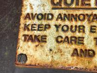 Large Heavy Rusted Cast Iron Railway Plaque Sign Train Notice (8 of 25)