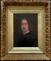 Original 19th Century British Primitive School Oil Portrait Painting of a Lady (2 of 8)