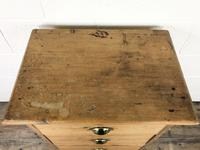 Antique Pine Chest of Drawers on a Plinth Base (7 of 13)