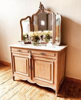 French Antique Washstand / Sideboard / Cupboard Vanity with Marble (6 of 7)