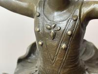 Charming  German Art Deco Style Bronze Sculpture Dancing Young Ballerina Girl (11 of 24)