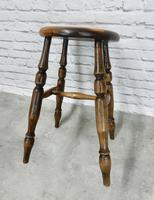 Victorian Pub Stool, Sycamore Seat (2 of 5)