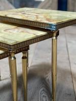 Nest 3 Onyx & Brass Tables (12 of 16)