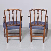 Pair of Inlaid Mahogany Georgian Hepplewhite Armchairs (7 of 7)