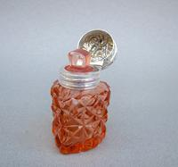 Unusual Victorian Silver & Cut Glass Heart-shaped Scent Bottle c.1895 (8 of 8)