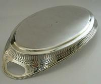 Superb Dutch Solid Silver Salver Drinks Bar Tray 1915 Antique (8 of 10)