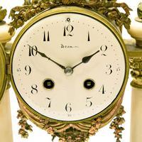 Mid 19th Century French Ormolu & Alabaster Portico Clock (5 of 8)