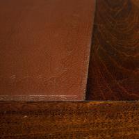 Antique Partner's Desk, English, Mahogany, Leather, Writing Table, Edwardian (12 of 12)