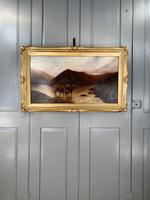 Antique Scottish landscape oil painting with Highland Cattle signed M Allinson 1 of 2 (10 of 10)