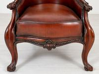 Victorian Rosewood Cabriole Leg Armchair (3 of 9)
