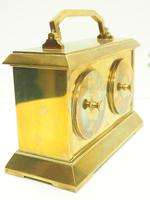 Fine Antique French 8-day Combination Thermometer, Clock & Barometer Carriage Clock Timepiece by Frodsham c.1890 (6 of 10)