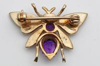Vintage Gold Amethyst & Seed Pearl Novelty Brooch (2 of 5)