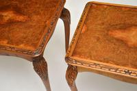 Pair of Antique Queen Anne Style Burr Walnut Side Tables (8 of 8)