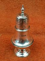 Antique Sterling Silver Hallmarked Pepper Shaker 1909 London ,C S Harris & Sons Ltd (2 of 7)