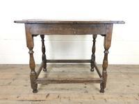 Antique Oak Side Table (m-2295) (12 of 12)