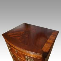 George VI Mahogany Tall Bow Chest (5 of 5)