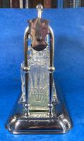 Edwardian Silver Plated Tantalus c.1905 (4 of 14)