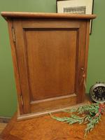 Small Antique Oak Cabinet, Medical Medicine Cabinet with Internal Drawers & Key (6 of 13)