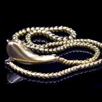 Antique Victorian Cabochon Garnet Yellow Gold Snake Serpent Necklace (8 of 11)