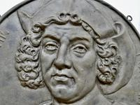 19th Century Cast Iron Portrait Plaque of Christoper Columbus 1451-1506 (4 of 7)