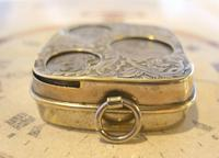 Antique Pocket Watch Chain Fob 1920s J W Benson Silver Nickel Coin Holder Fob (6 of 10)
