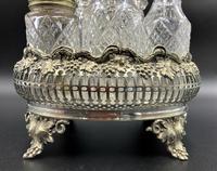 Fabulous Quality 19thc Victorian Silver Plated Cruet Set Inc 5 Cut Glass Bottles (6 of 12)