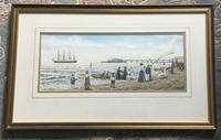 Colin M Baxter Watercolour 'Pitlochry off Brighton Pier Summer 1910' (2 of 2)