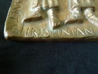 Mid Century Bronze Plaque - Saint Chrispin & Chrispinian- European School (3 of 6)