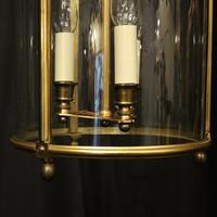 French Bronze Triple Light Antique Lantern (7 of 10)