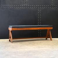Slatted Bench V-type by Pierre Jeanneret c.1955/56 (2 of 6)