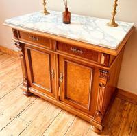 Antique Sideboard / Burr Walnut Sideboard / Walnut Cupboard (7 of 10)