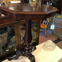 Lovely Quality Octagonal Mahogany Tripod Table (3 of 8)